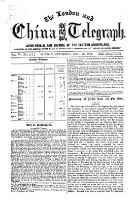The London and China telegraph Samstag 26. September 1863