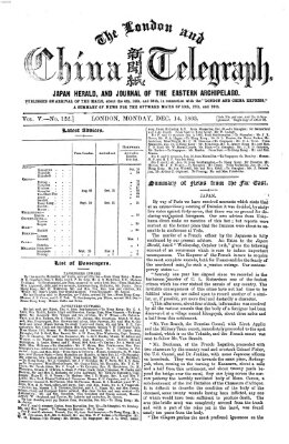 The London and China telegraph Montag 14. Dezember 1863