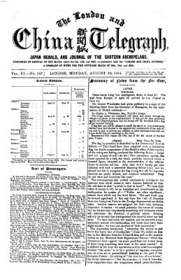 The London and China telegraph Montag 29. August 1864