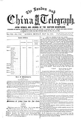 The London and China telegraph Montag 15. Mai 1865