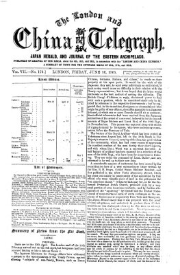 The London and China telegraph Freitag 16. Juni 1865