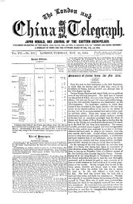 The London and China telegraph Dienstag 28. November 1865