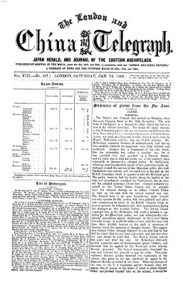 The London and China telegraph Samstag 13. Januar 1866
