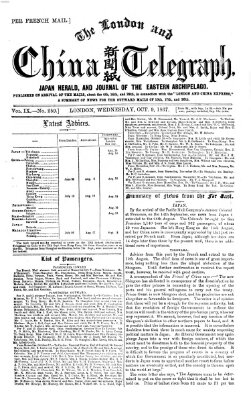 The London and China telegraph Mittwoch 9. Oktober 1867