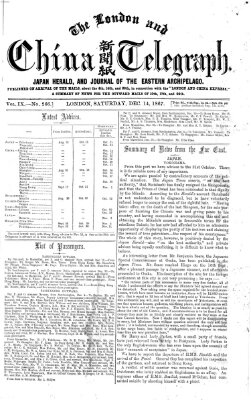 The London and China telegraph Samstag 14. Dezember 1867