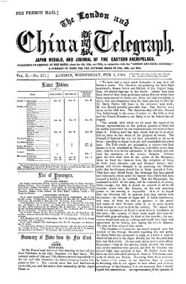 The London and China telegraph Mittwoch 5. Februar 1868