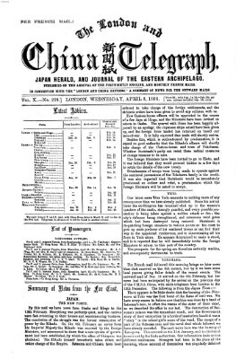 The London and China telegraph Mittwoch 8. April 1868