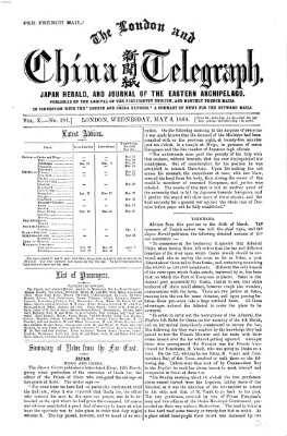 The London and China telegraph Mittwoch 6. Mai 1868