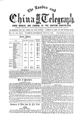 The London and China telegraph Samstag 4. Juli 1868