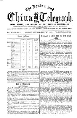 The London and China telegraph Montag 27. Juli 1868