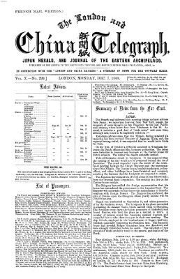 The London and China telegraph Montag 7. Dezember 1868