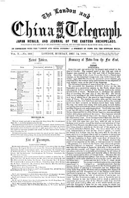 The London and China telegraph Montag 14. Dezember 1868
