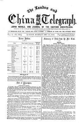 The London and China telegraph Montag 28. Dezember 1868