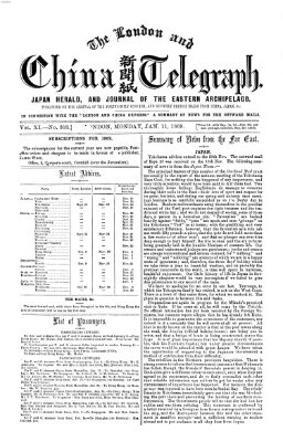 The London and China telegraph Montag 11. Januar 1869