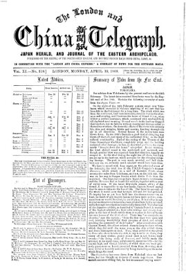 The London and China telegraph Montag 19. April 1869