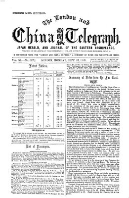 The London and China telegraph Montag 27. September 1869