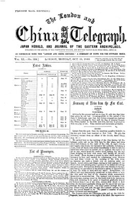 The London and China telegraph Montag 25. Oktober 1869