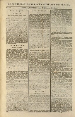 Gazette nationale, ou le moniteur universel (Le moniteur universel) Dienstag 29. November 1791