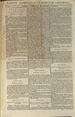 Gazette nationale, ou le moniteur universel (Le moniteur universel) Montag 30. April 1792