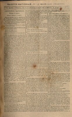 Gazette nationale, ou le moniteur universel (Le moniteur universel) Dienstag 25. November 1794