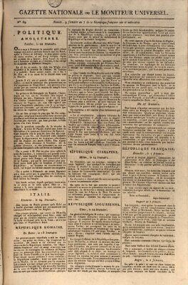 Gazette nationale, ou le moniteur universel (Le moniteur universel) Donnerstag 29. November 1798
