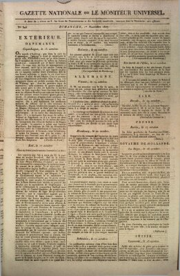 Gazette nationale, ou le moniteur universel (Le moniteur universel) Sonntag 1. November 1807