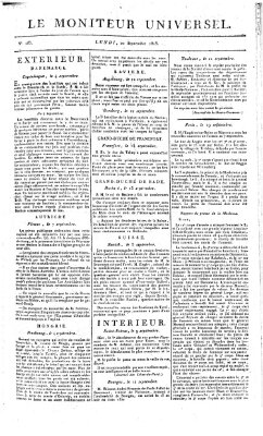 Le moniteur universel Montag 20. September 1813