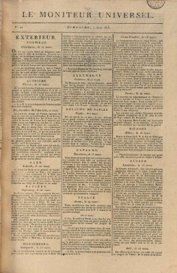 Le moniteur universel Sonntag 2. April 1815