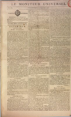 Le moniteur universel Freitag 20. September 1816
