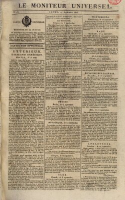 Le moniteur universel Donnerstag 17. September 1818