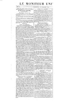 Le moniteur universel Samstag 18. September 1819