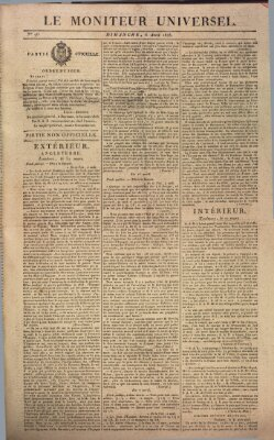 Le moniteur universel Sonntag 6. April 1823