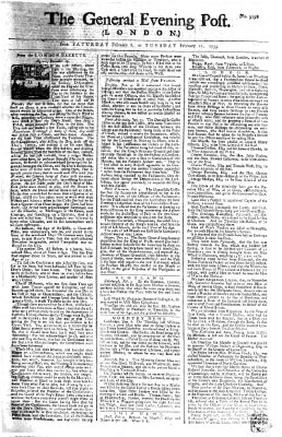 The general evening post Dienstag 11. Februar 1755