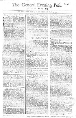 The general evening post Dienstag 15. April 1755
