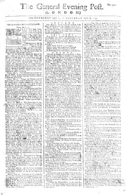 The general evening post Donnerstag 24. April 1755