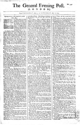 The general evening post Donnerstag 5. Juni 1755