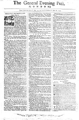 The general evening post Freitag 25. Juli 1755