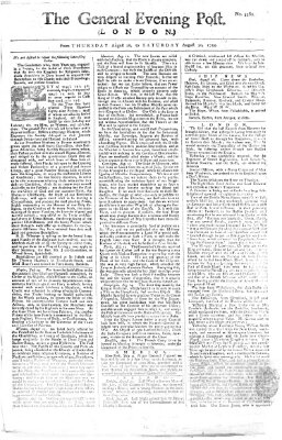 The general evening post Freitag 29. August 1755