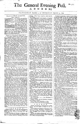 The general evening post Donnerstag 4. September 1755