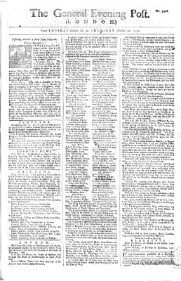 The general evening post Donnerstag 30. Oktober 1755