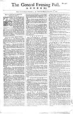 The general evening post Donnerstag 6. November 1755