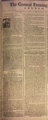 The general evening post Dienstag 11. April 1758