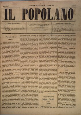 Il popolano Dienstag 17. April 1849