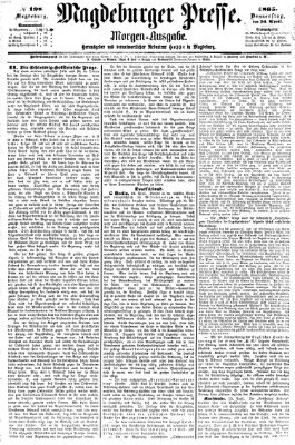 Magdeburger Presse Donnerstag 20. April 1865