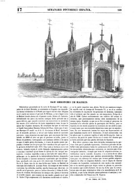 Semanario pintoresco español Sonntag 27. April 1856