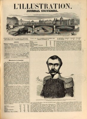 L' illustration Samstag 8. November 1845