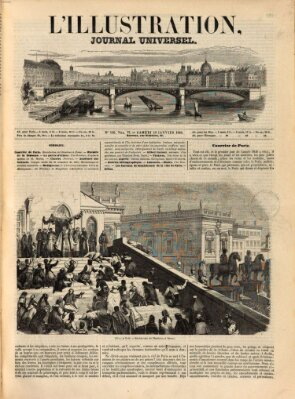 L' illustration Samstag 10. Januar 1846