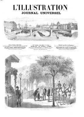 L' illustration Samstag 11. August 1866