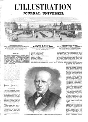 L' illustration Samstag 17. Oktober 1868