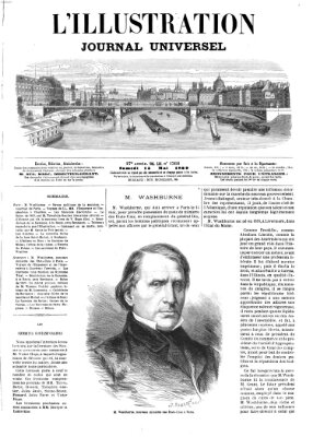 L' illustration Samstag 15. Mai 1869